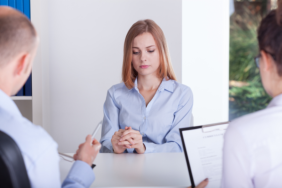 The Girl Is Stressing On Interview
