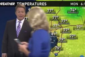 This news anchorwoman at WTSP in Tampa was so absorbed and addicted to her Pokemon Go that she walked right across a weather broadcast segment.