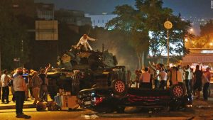 The people of Turkey fought it out in the streets during a coup attempt to overthrow the country's current president. The coup attempt failed.