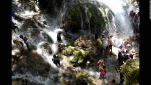 Thousands of people in Haiti took the annual pilgrimage last week to the Sacred Waterfalls where they bathed and prayed to the Erzulie, the Voodoo religion's god of love. The ask the god for good fortune and a prosperous year ahead.