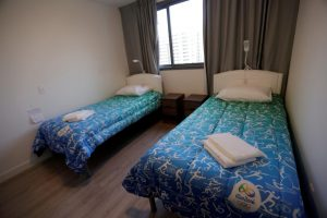 Rather spartan accommodations await the world's athletes at the Olympic Village in Rio de Janeiro.
