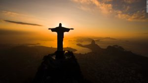 The gigantic statue of Jesus of Nazareth awaits the world's athletes who will compete in the Olympic Games soon in Rio de Janeiro.