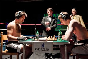 Chess boxing is exactly what you would think it is. It is 11 action packed rounds where the contestants alternate between boxing and playing a chess match. The winner is put into check mate or is knocked out in the ring.