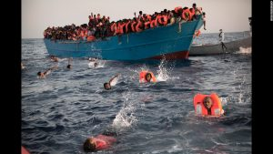 The migrant crisis continues to assail Europe as thousands flee from war and poverty in the Middle East and Africa. These people were rescued off the coast of Libya.