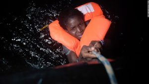 The migrant crisis in the world continues as thousands continue to flee from Africa and the Middle Eastern countries. This woman was lifted out of the Mediterranean Sea near Libya last week.