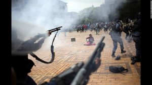 Riots continued in South Africa as students continued to battle the army and the government over a hike in tuition costs and fees.