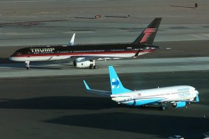 Trump and Clinton land in Las Vegas for their final debate