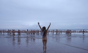 This past Sunday was the annual Northeast Skinny Dip Day held in Northumberland, England.