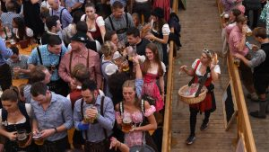 The annual Oktoberfest is in full swing as revelers in Munich enjoy the national holiday.